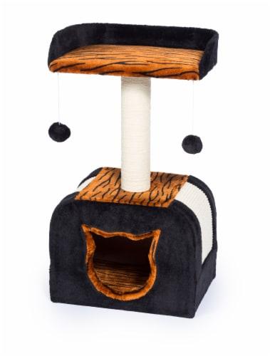 Prevue Tiger Hideaway Plush Pet Furniture Perspective: front