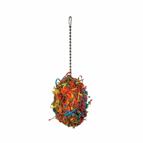 Prevue Pet Products 48081626375 Calypso Creations Fiesta Ball Bird Toy Perspective: front