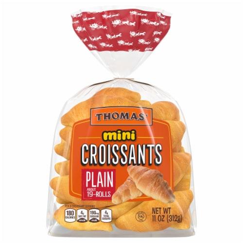 Thomas' Plain Mini Croissant Perspective: front