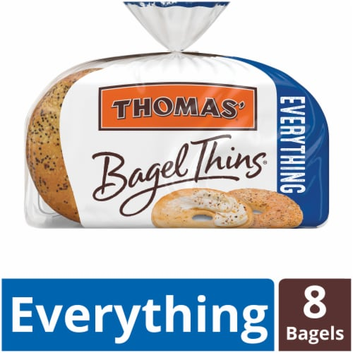 Thomas' Everything Bagel Thins Perspective: front