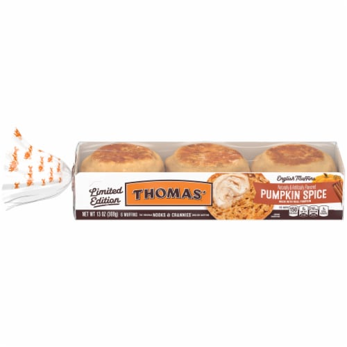 Thomas'® Limited Edition Pumpkin Spice English Muffins Perspective: front
