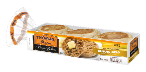 Thomas Banana Bread English Muffins 6 Count Perspective: front