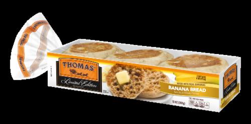 Thomas Banana Bread English Muffins Perspective: front