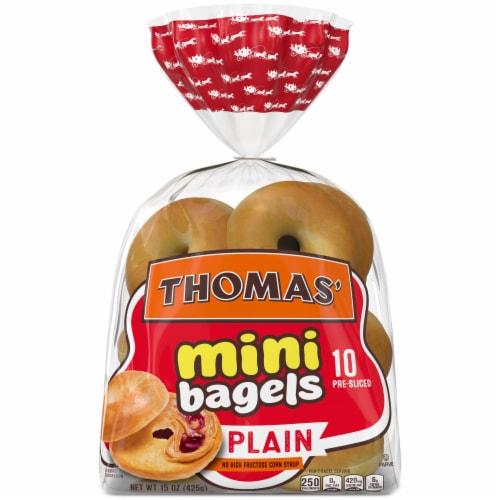Thomas' Plain Mini Bagels Perspective: front