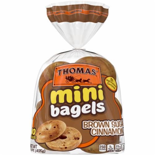 Thomas' Brown Sugar Cinnamon Mini Bagels Perspective: front