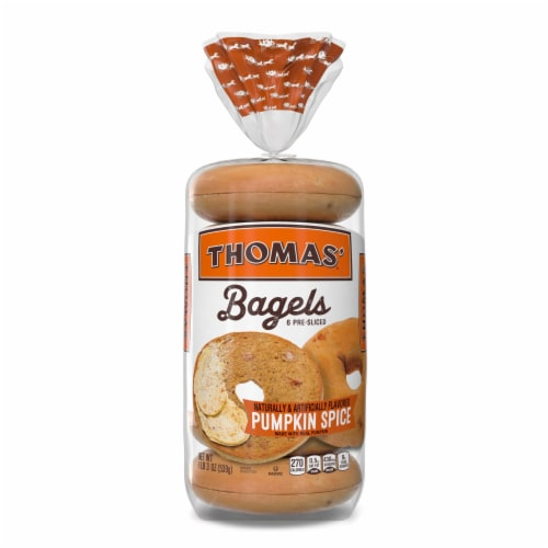 Thomas'® Limited Edition Pumpkin Spice Bagels Perspective: front