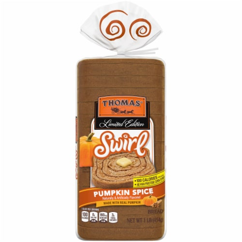 Thomas'® Limited Edition Pumpkin Spice Swirl Bread Perspective: front