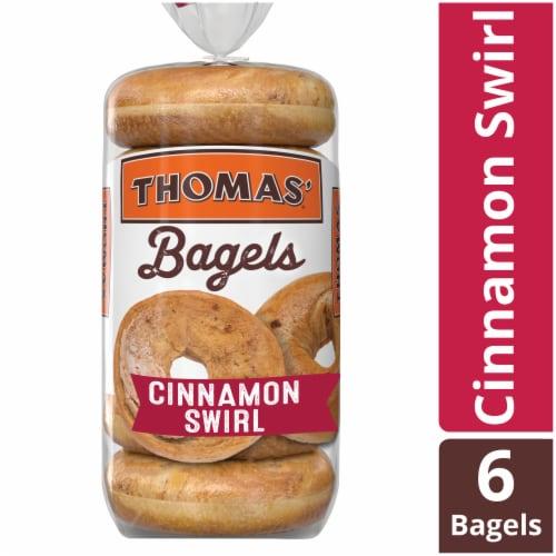 Thomas' Cinnamon Swirl Bagels Perspective: front