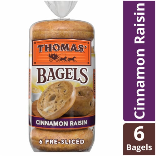 Thomas' Cinnamon Raisin Bagels Perspective: front