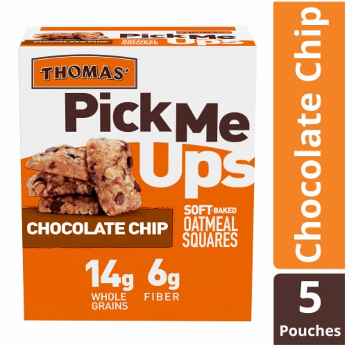 Thomas' Pick Me Ups Chocolate Chip Soft Baked Oatmeal Squares Perspective: front
