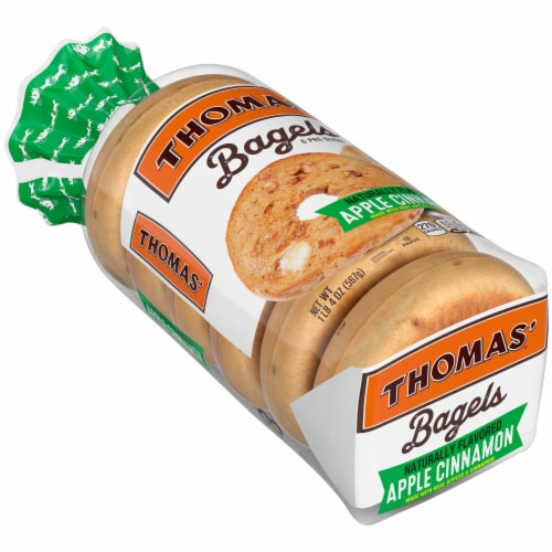 Thomas' Apple Cinnamon Bagels Perspective: front