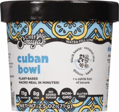 Chef Soraya Eat a Bowl Cuba Black Beans & Rice Perspective: front
