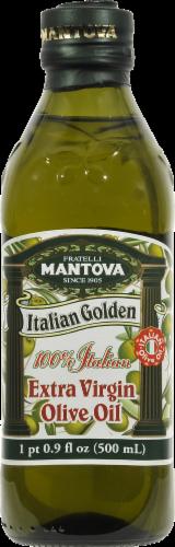 Mantova Italian Golden Extra Virgin Olive Oil Perspective: front