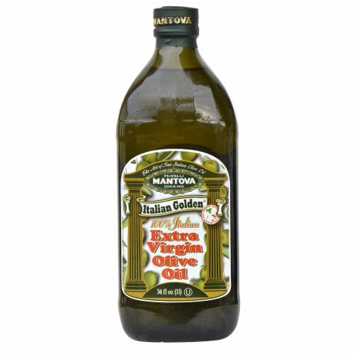 Mantova Italian Golden 100% Italian Extra Virgin Olive Oil Perspective: front
