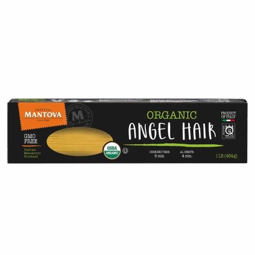 Organic Durum Wheat Semolina Angel Hair 16 oz (Pack of 4) Perspective: front