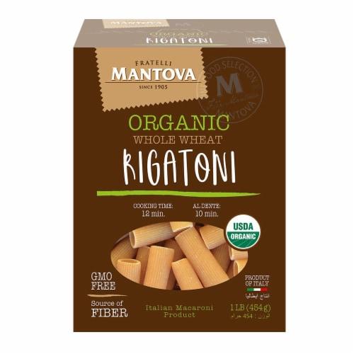 Organic Whole Wheat Semolina Rigatoni 16 oz (Pack of 4) Perspective: front