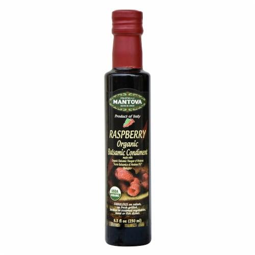 Mantova Organic Raspberry Balsamic Condiment Perspective: front