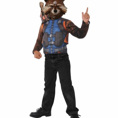 Imagine 274396 Guardians of the Galaxy Rocket Raccoon Child Dress Up Set Perspective: front