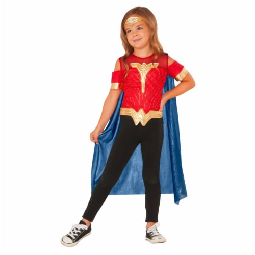 Imagine 274597 Wonder Woman Shirt with Cape Set - One Size Perspective: front