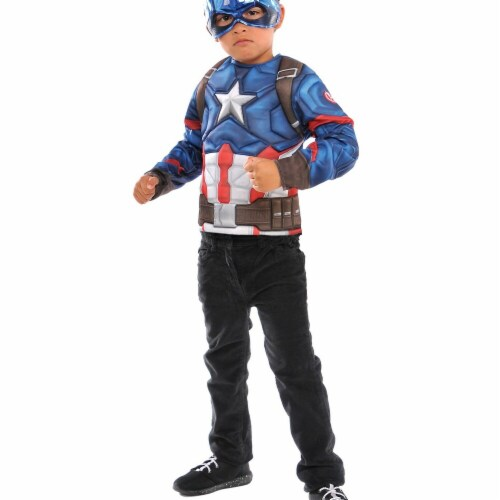 Imagine 274608 Captain America Deluxe Costume - One Size Perspective: front
