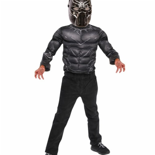 Imagine 274609 Black Panther Deluxe Costume - One Size Perspective: front