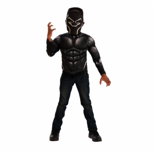Imagine Black Panther Muscle Chest Shirt Set, Medium Perspective: front