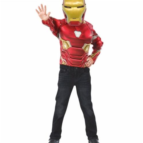 Imagine 281066 Iron Man Muscle Chest Shirt Set, Medium Perspective: front