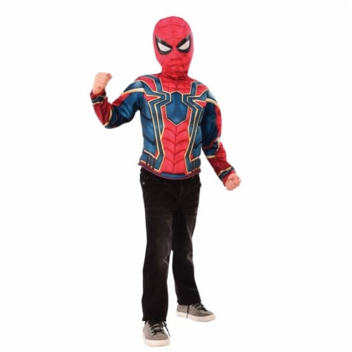 Imagine Spider-Man Muscle Chest Shirt Set, Medium Perspective: front