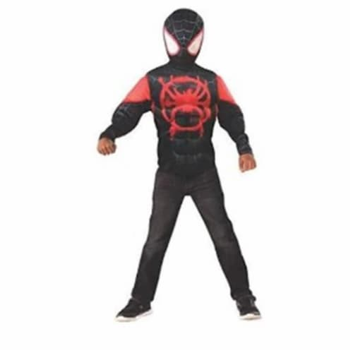 Imagine 281083 Miles Morales Muscle Chest Shirt Set, Medium Perspective: front