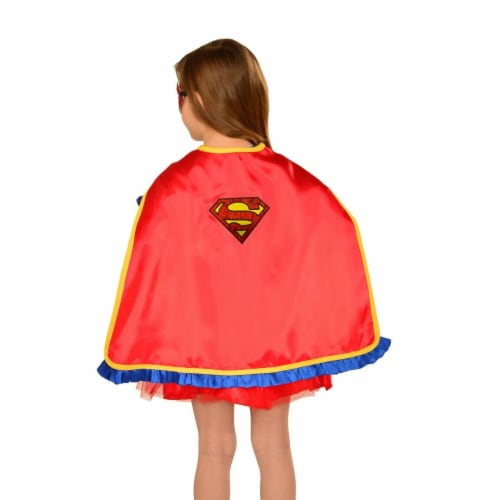 BuySeasons 283786 Girls Supergirl Cape, One Size Perspective: front