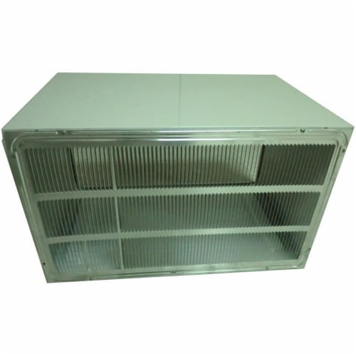 LG AXSVA4 26 In. Wall Sleeve & Stamped Aluminum Rear Grillefor Through-The-Wall Air Condition Perspective: front