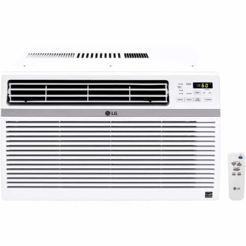 LG 8000 BTU 115V Window Mounted Air Conditioner with Remote Control Perspective: front