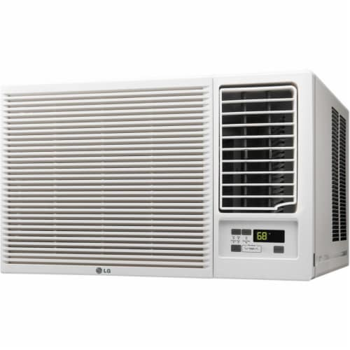 LG 23000 BTU 230V Window-Mounted Air Conditioner with 11 600 BTU Supplemental Heat Function Perspective: front