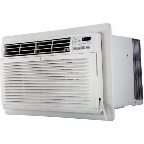 LG LT1036CER 230 V Through The Wall 10,000 BTU Air Conditioner with Remote Control - White Perspective: front