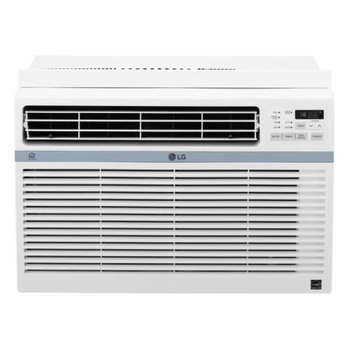 LG Energy Star 8000 BTU 115V Window-Mounted Air Conditioner with Wi-Fi Control Perspective: front