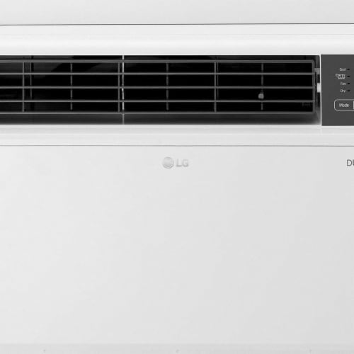 LG 18000 BTU 230V Dual Inverter Window Air Conditioner with Wi-Fi Control Perspective: front