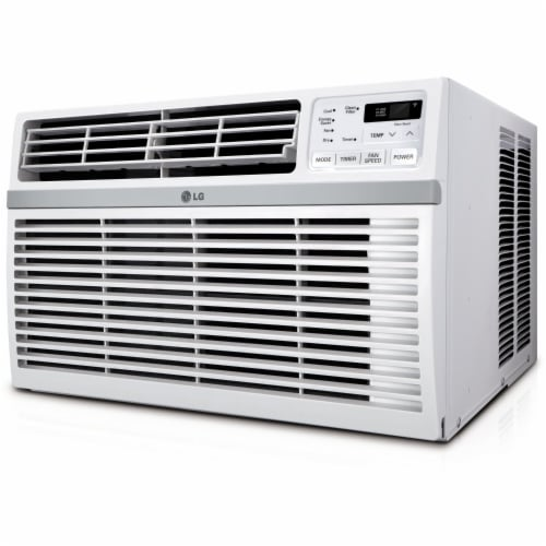 LG 6000 BTU Window Air Conditioner with Remote Control - White Perspective: front