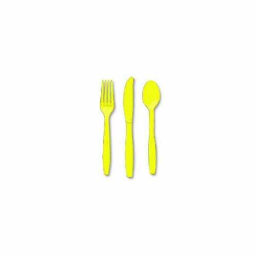 Amscan 8003.09 Heavy Weight Assorted Cutlery, Yellow Sunshine - Pack of 288 Perspective: front
