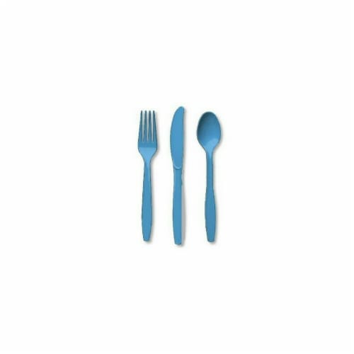Amscan 8003.54 Heavy Weight Assorted Cutlery, Caribbean - Pack of 288 Perspective: front