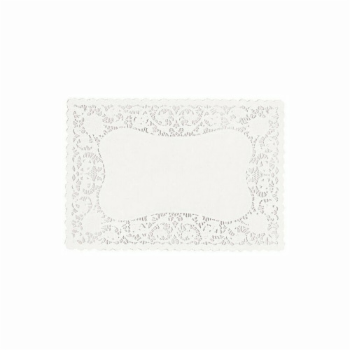 Amscan 14030 White Paper Placemat - Pack of 108 Perspective: front