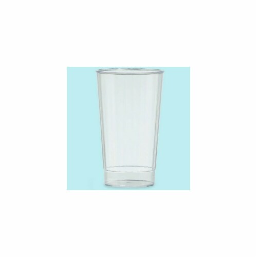 Amscan 351007.86 Premium Plastic Tumblers Clear 16 oz. - Pack of 192 Perspective: front