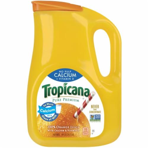 Tropicana Orange Juice with Calcium + Vitamin D 89 oz Bottle Perspective: front