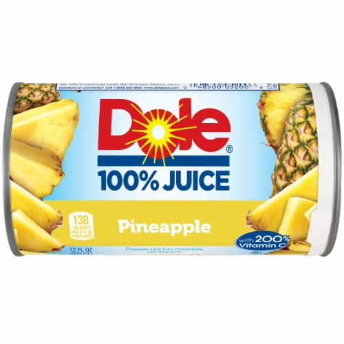 Dole 100% Pineapple Juice Drink Perspective: front