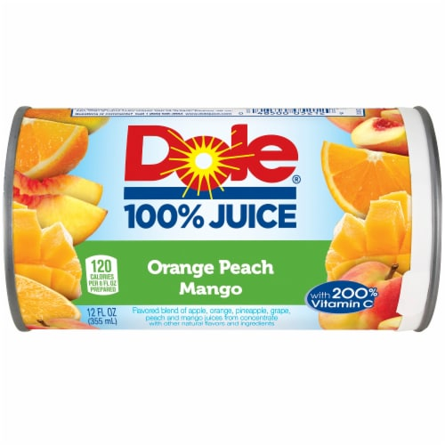 Dole Orange Peach Mango 100% Fruit Juice Drink Perspective: front