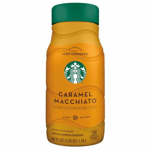 Starbucks Iced Caramel Macchiato Chilled Espresso Coffee Bottle Perspective: front