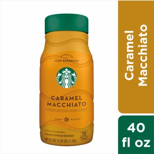 Starbucks Iced Caramel Macchiato Chilled Espresso Coffee Bottle Perspective: front