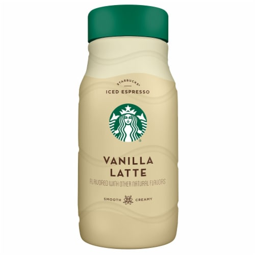 Starbucks Iced Vanilla Latte Chilled Espresso Coffee Bottle Perspective: front