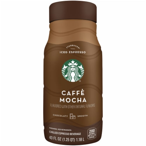 Starbucks Skinny Café Mocha Chilled Espresso Coffee Bottle Perspective: front