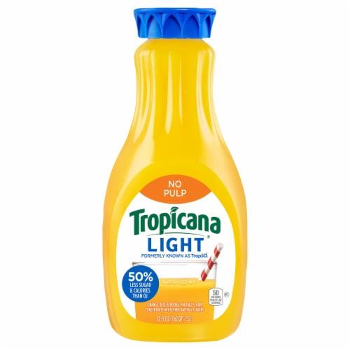 Tropicana Trop50 No Pulp Orange Juice Perspective: front