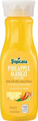Tropicana Pineapple Mango Juice Drink Bottle Perspective: front